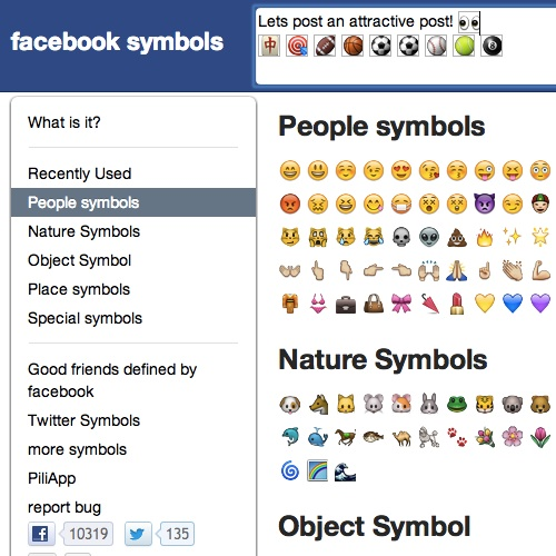 Facebook Symbols Smiley Symbol Emoji Symbol Emoticon And Code List